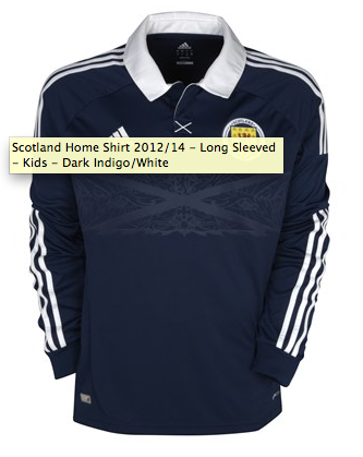 Kids Scotland Footbal Shirt - Home
