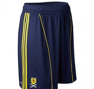 2011 Kids Scotland Football Shorts - Away